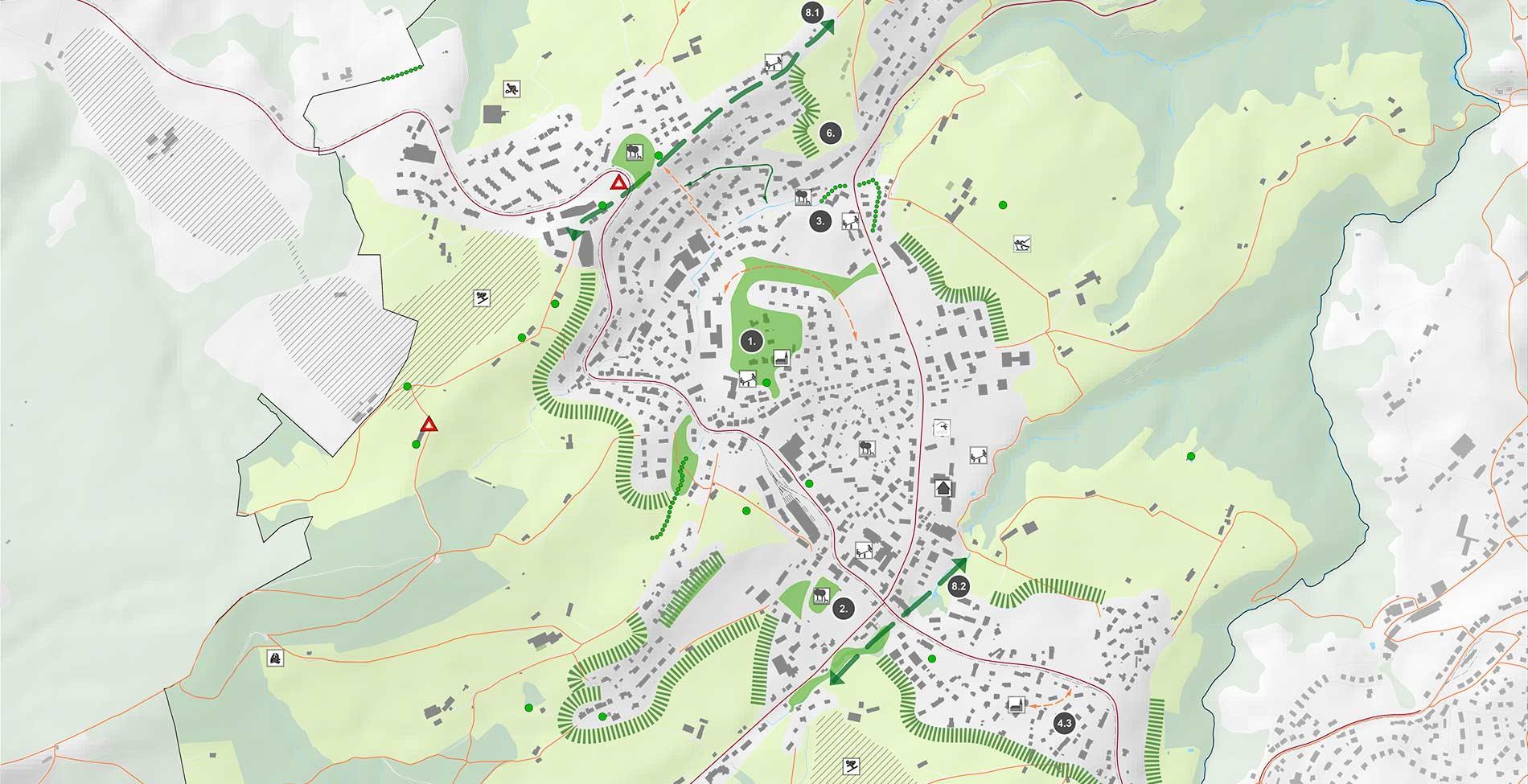 Perspektive Speicher Freiraum Plan Detail